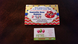 Little Einsteins Birthday invitations in yellow polka dots and red chevr... - $8.99