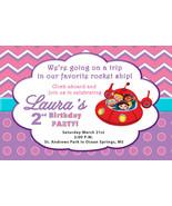 Little Einsteins Birthday Party Invitation in pink and purple - $8.99
