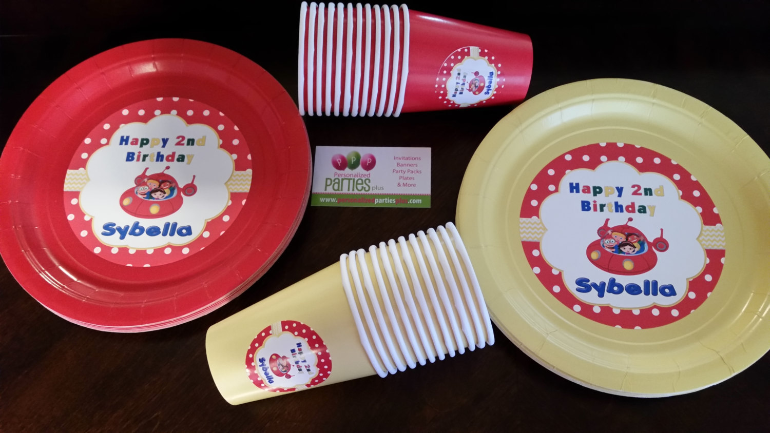 Little Einsteins plates & cups | Little Einstein birthday plates and cups