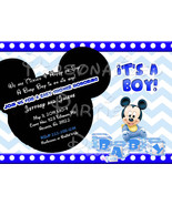 Baby Mickey Mouse Baby Shower Invitation Downloaded and printable - $9.99