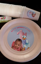 Daisy Duck plates and cups for birthdays or baby showers - $39.99