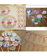Little Einsteins banner, centerpieces, cupcake toppers, plate and cup la... - $73.50