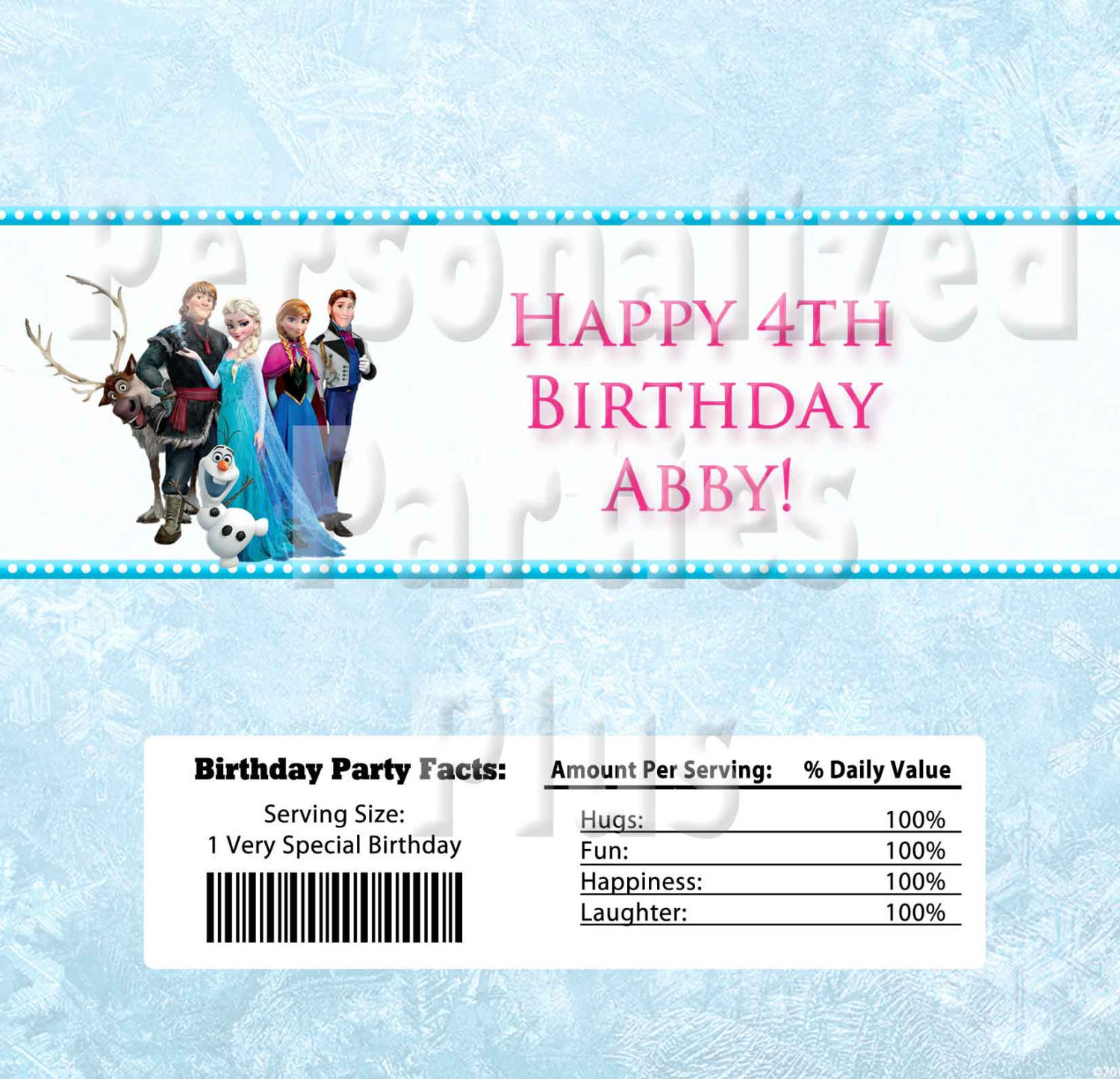 Frozen Candy Bar Wrappers: Downloadable & Printable