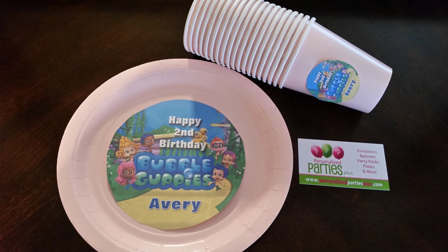 Bubble Guppies plates & cups