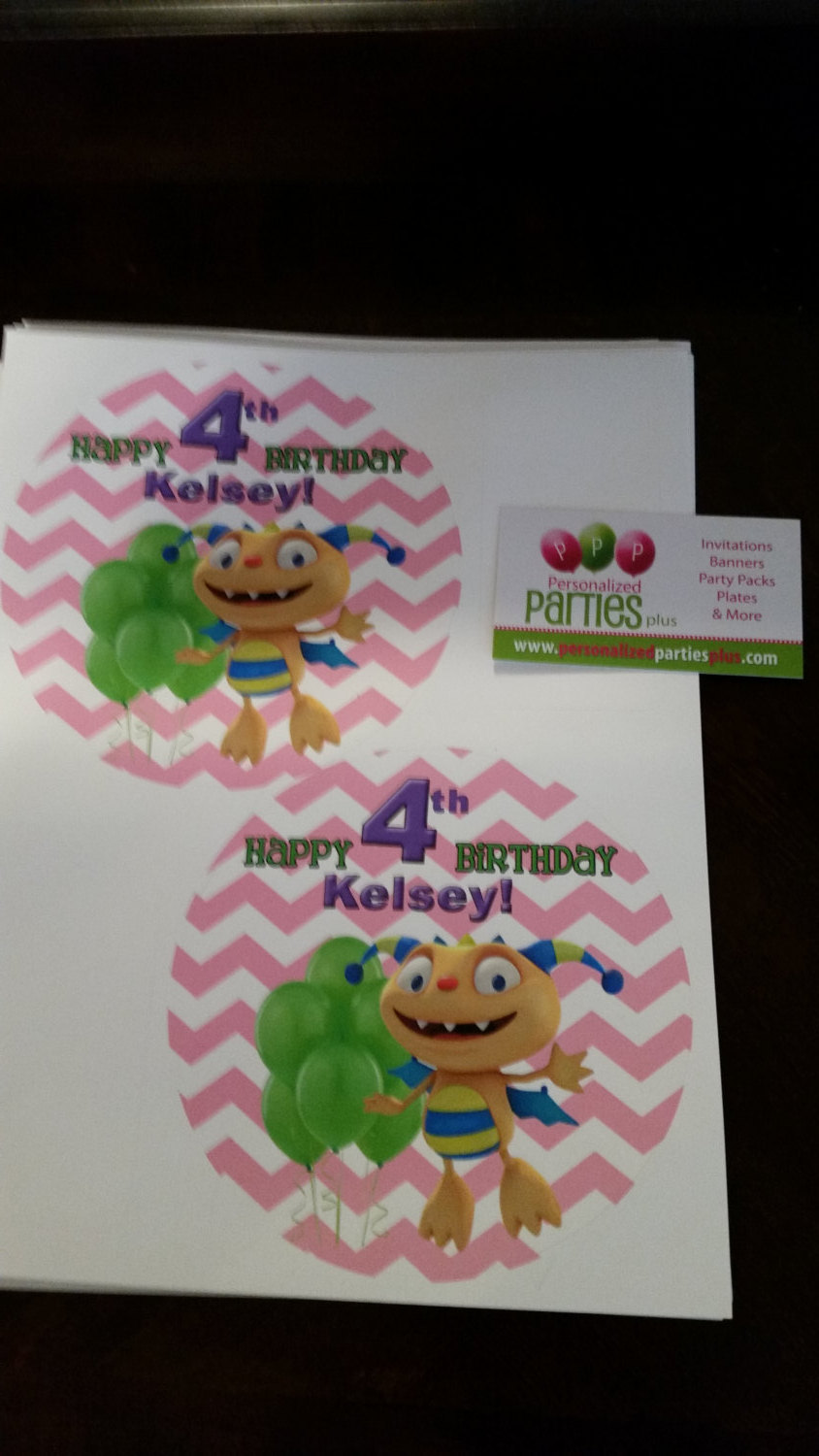 Henry Hugglemonster plate and cup stickers