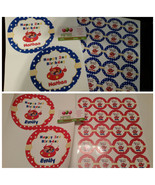 Little Einsteins plate and cup stickers set of 12 - $19.99