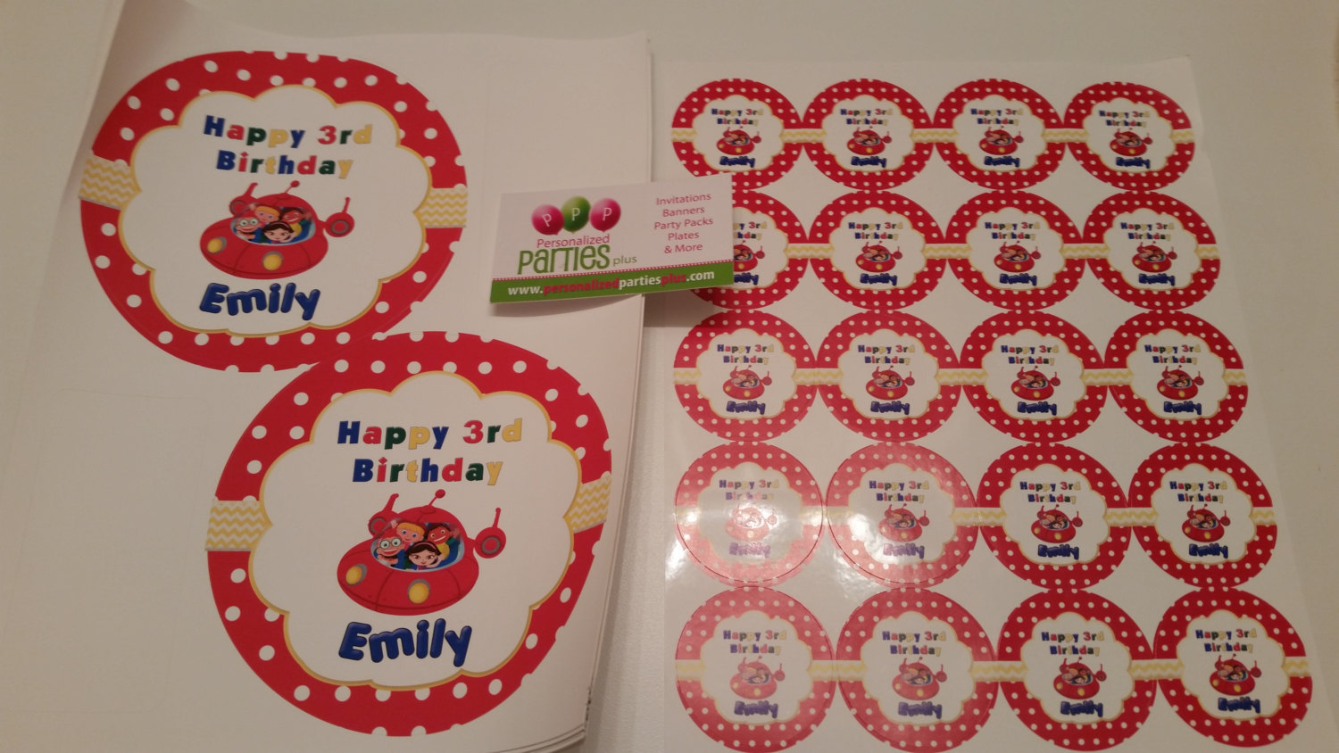Little Einsteins plate and cup stickers set of 12