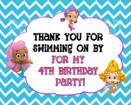 Bubble Guppie birthday sign: Thank you fro swimming on by - $4.00
