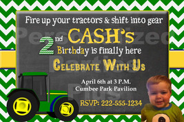 Tractor birthday invitation that is personalized: Downloadable image - $8.99