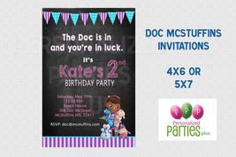 Doc McStuffins chalkboard birthday invitation - $8.99