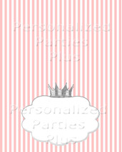 Pink striped food tents with a silver crown - $2.50
