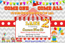 Carnival style invitation that's personalized and printable: various des... - $8.99