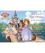 Sofia the First Invitation that has several Disney Princesses on it - $8.99