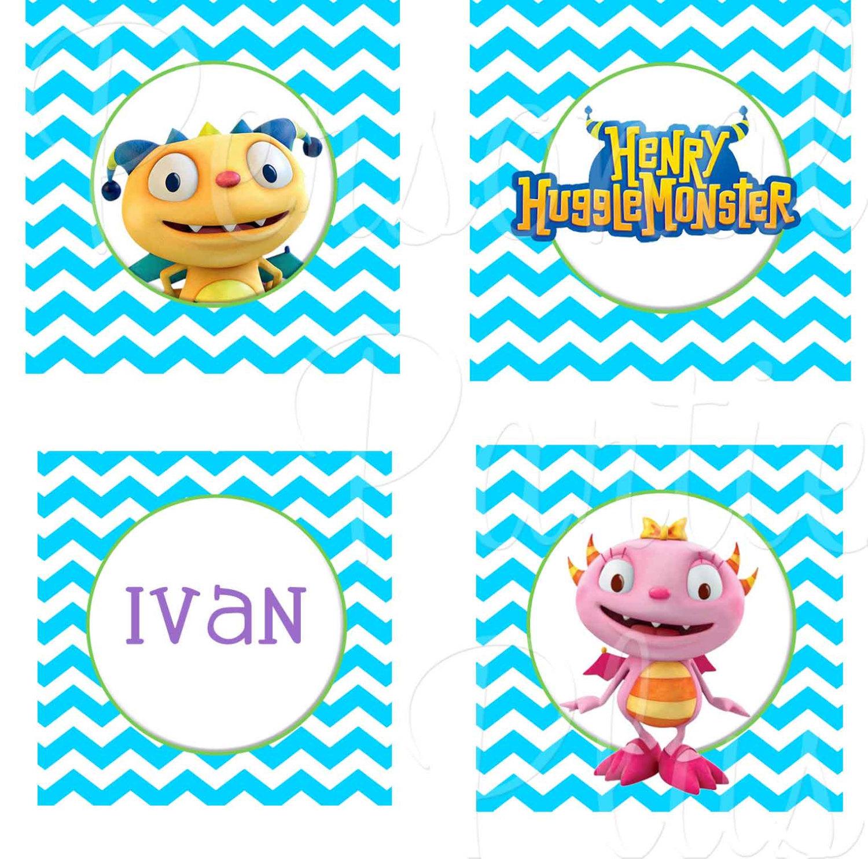 Henry Hugglemonster cupcake toppers