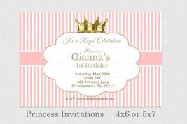 Pink striped Princess invitations - $8.99