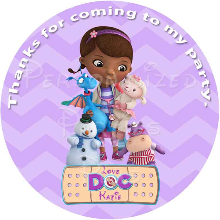 Make your own Doc McStuffins birthday party pack: Pick 5 of your favorite items