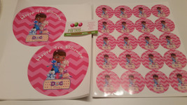 Doc McStuffins plate and cup stickers - $42.50
