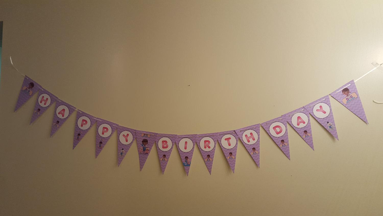 Doc McStuffins banner | Doc Mcstuffins birthday banner
