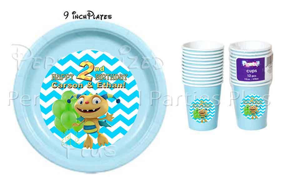 Henry Hugglemonster plates & cups
