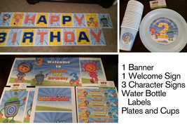 Umizoomi party in a box | Team Umizoomi banner, signs, plates, cups... - $80.95