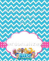 Bubble Guppies food tents in aqua and hot pink image 3
