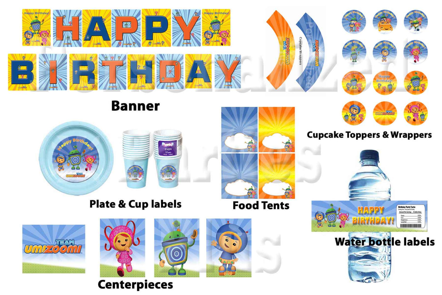 Fine Team Umizoomi Instant Downloadable Birthday And 50 Similar Items Personalised Birthday Cards Epsylily Jamesorg