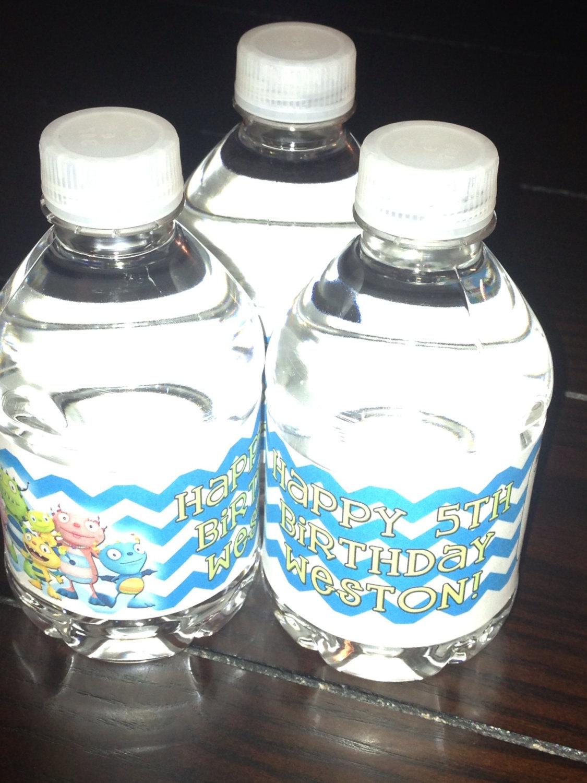 Henry Hugglemonster water bottle labels