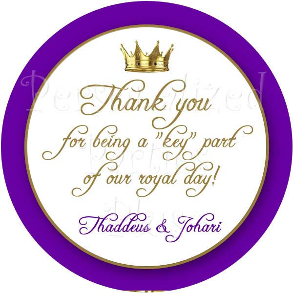 Thank you tags | Royal thank you tags
