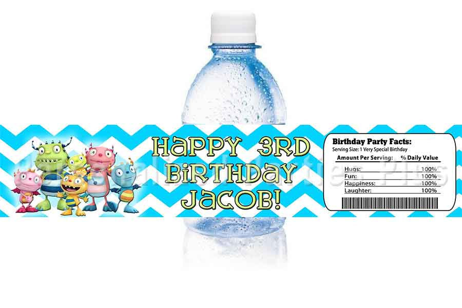 Henry Hugglemonster water bottle labels image 2