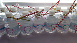 Mermaid water bottle labels - $4.00