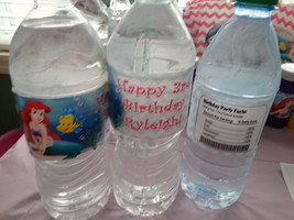 Little Mermaid water bottle labels - $4.00