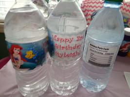 Little Mermaid water bottle labels - $4.00