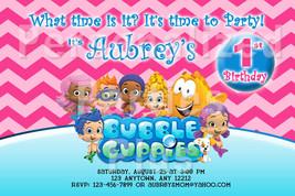 Bubble Guppies birthday invitations vairous designs - $8.99