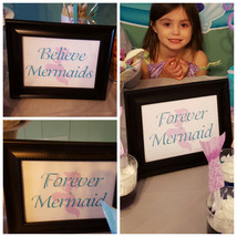 Mermaid birthday signs | Mermaid signs | Forever a Mermaid - $4.00