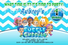Bubble Guppies birthday invitations vairous designs - $9.99