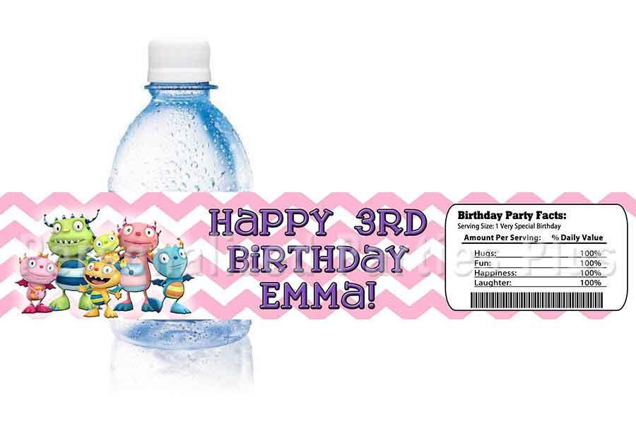 Henry Hugglemonster water bottle labels image 3