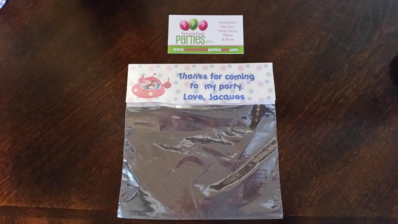Printed Little Einsteins treat bags