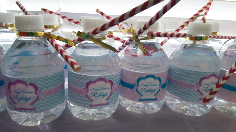 Mermaid water bottle labels