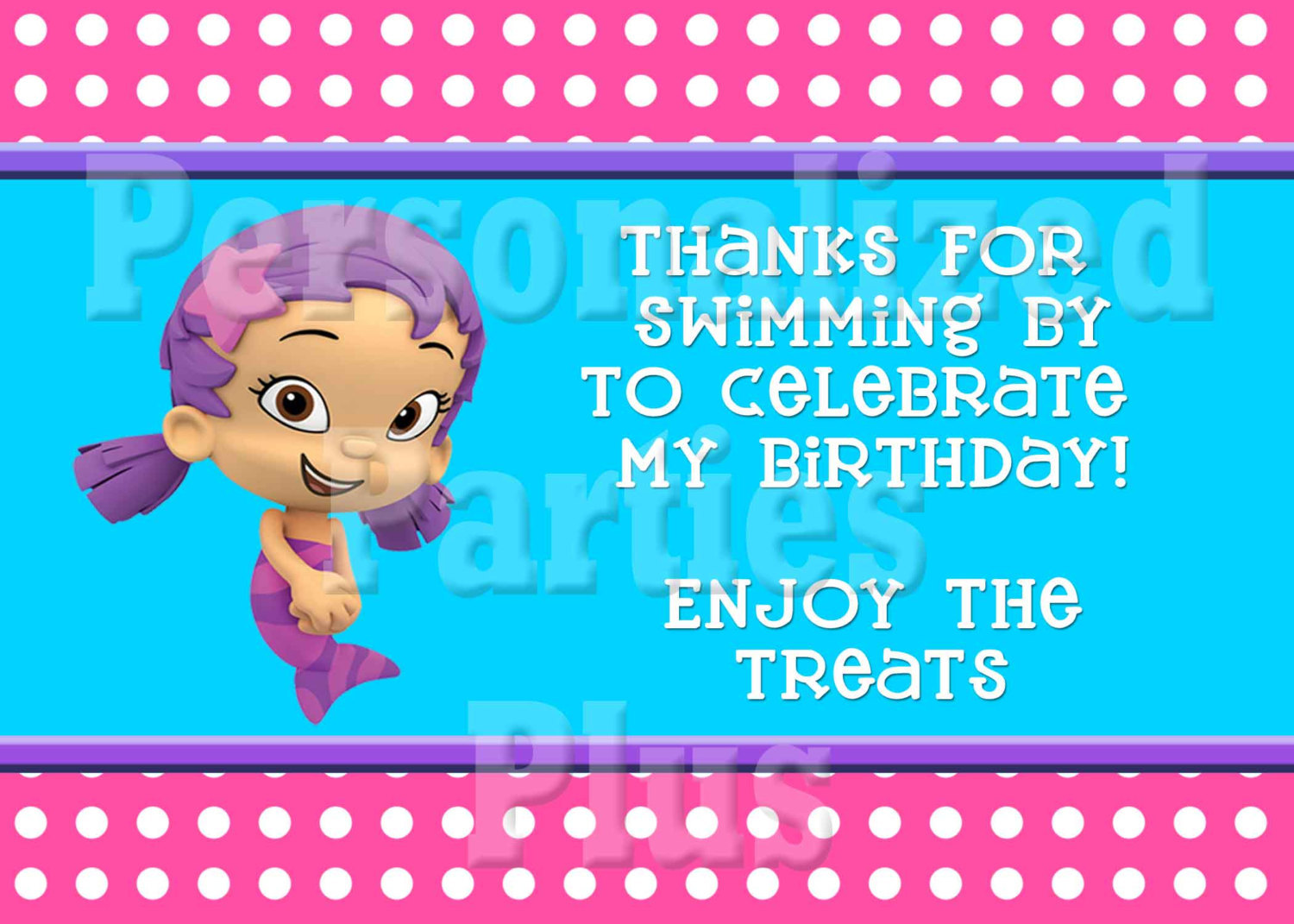 Bubble Guppie party signs | Bubble Guppy signs | birthday signs
