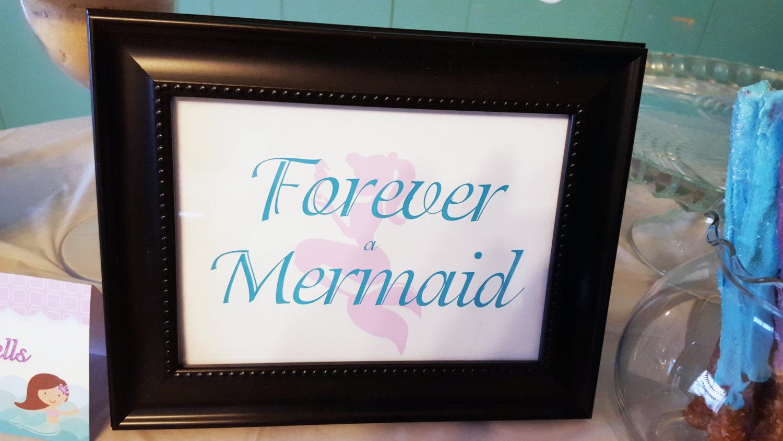 Mermaid birthday signs | Mermaid signs | Forever a Mermaid