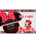 Baby Minnie Mouse Baby Shower Invitation - $9.99