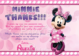 Minnie Mouse Thank you cards - $4.00