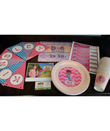 Doc McStuffins party pack: banner, water bottle labels, plates, cups, si... - $95.94