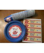 Little Einsteins plates, cups and water bottle lables set of 24 - $55.95