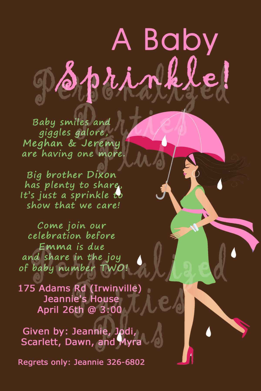 Baby Shower Invitation | baby sprinkle | second baby invite