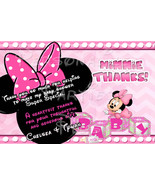 Baby Minnie Mouse Baby Shower Thank you card - $4.99