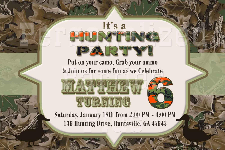 Hunting Camouflage Birthday Invitation