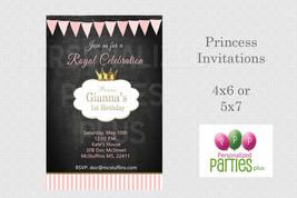 Chalkboard Princess birthday invitation - $8.99