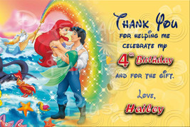 The Little Mermaid thank you card with Princess Ariel - $4.00