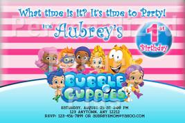 Bubble Guppies birthday invitations various designs - $8.99